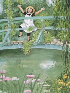 Linnea dans le jardin de Monet : Photo