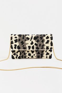 Viv Beaded Fold Over Clutch
