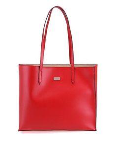 OJJU - Červená minimalistická kabelka - 1
