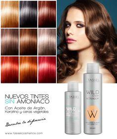 Nueva línea de tintes Tassel SIN Amoniaco (16 colores) Con Aceite de Argán, Keratina y ceras vegetales que cuidan tu cabello. Y activadores de 20, 30 y 40 Vol.