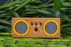 Sustainable bluetooth speakers by Otis and Eleanor $140