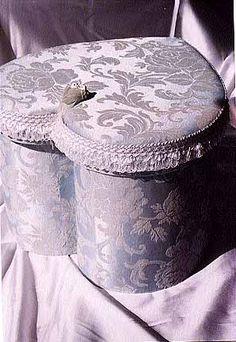 Lavender Cottage:  #Lavender damask heart box.