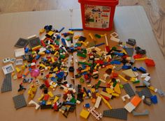 LEGO 0.56kg Lots of Unusual Bricks in a Basic Bucket Plus Box of Extras VGC