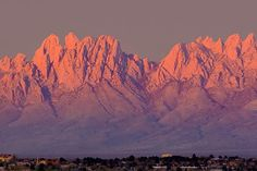 Organ Mountains, Las Cruces, NM - this was our magnificent view in the morning!