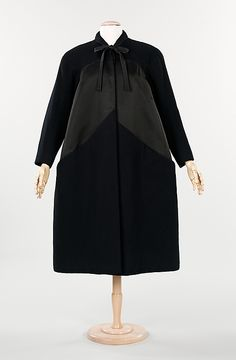 """Gothic Coat""  Charles James (American, born Great Britain, 1906–1978)  Date: 1954 Culture: American Medium: wool, silk"