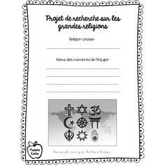 Projet de recherche sur les grandes religions Cycle 2, World Religions, Cool Stuff, Search, Words, Searching, Horse