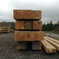 The larger than usual oak is brought into the yard to be graded.
