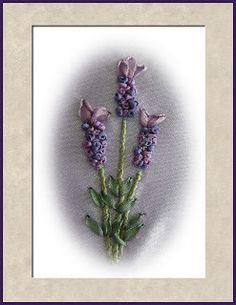 Silk Ribbon Embroidery: Tutorial - Lavender