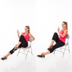 Is this the most deceiving workout ever? These toning exercises will give you a full  sc 1 st  Pinterest & Cardio workout on a chair (for people with bad/weak/injured knees ...