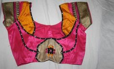 Blouse Necklines Adorned With Patchwork