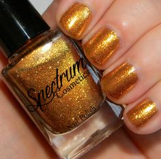 Gold Glitter Nail Polish ALL THAT GLITTERS by SpectrumCosmetic $5.40