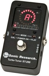 Sonic Research ST-200 Stomp Box Strobe Tuner - Best and most accurate tuner to use.