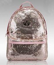 kadın çantaları Kore tarzı taç sırt kadın metal paillette öğrencinin okul çantası katı rahat çanta promosyon ücretsiz kargo(China (Mainland))