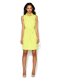 Sleeveless Pocket Shirtdress by Alex + Alex on Gilt.com