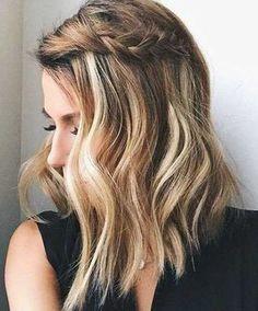 15 Cute Easy Hairstyles For Short Hair – Hair Styles 2019 Short Hair Styles Easy, Medium Hair Styles, Cute Short Hair, Mid Length Hair, Medium Length Hair Braids, Medium Hair Waves, Medium Length Waves, Good Hair Day, Pretty Hairstyles