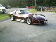 1980 Corvette. Always loved this color: Claret.