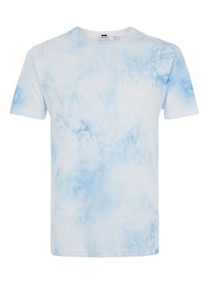 Washed Blue Printed T-Shirt - New Arrivals - New In - TOPMAN