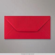 110x220 mm (DL) Šarlátovo-červená Obálka