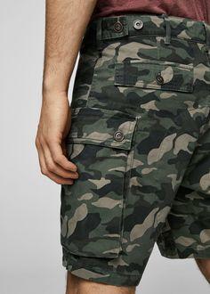 Military Shorts, Camouflage, Bermuda Shorts, Mango, Army, Japanese, Mens Fashion, Jeans, Outfits