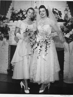 1950 vintage wedding photo, LOVE THIS!!! I think brides from the 50's and 60's were beautiful.