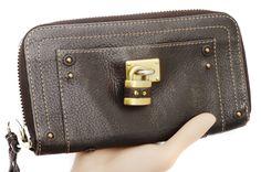 Chloe Paddington Brown Leather Zip Around Wallet