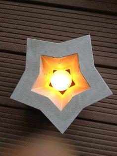 Wohnbrise: Beton Stern, Windlicht, Weihnachten