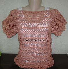 Free pattern for summer crochet top - open with Google Chrome and you will see the option to translate to English if needed.