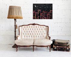 Starscity Acrylic Painting 40x50 Originally by Anonim Paintings