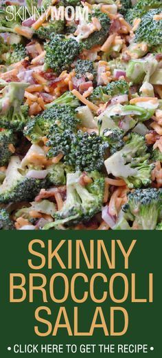Skinny broccoli salad - IT'S GOOD! Didn't add the olives though. Made me feel healthy eating it! :-)