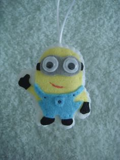 cute felt Despicable Me Dave minion ornament by TheCutesyShelf