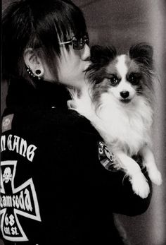 Ruki and Koron-chan!!! (or another dog, not sure) ♥ If this doesn't make you squeal from cuteness I don't know what will.