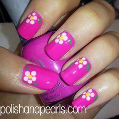 Daisy - Polish and Pearls #nail #nails #nailart