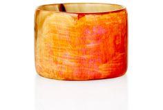 Orange Dyed Horn Bangle on OneKingsLane.com