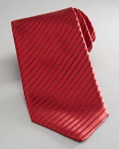 Brioni Textured Stripe Tie - Neiman Marcus