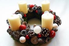 RizsArt - Beso Blanco - Adventi koszorú, Karácsonyi, adventi apróságok, Karácsonyi dekoráció, #advent #wreath Advent, Ale, Candles, Google, Kisses, Ale Beer, Ales, Candle, Lights