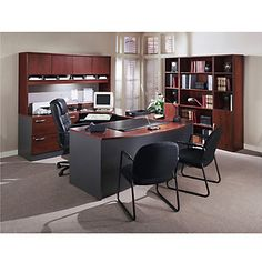 U-Desk Office Suite - OFG-EX1016 Home Office Furniture - Classy - Professional