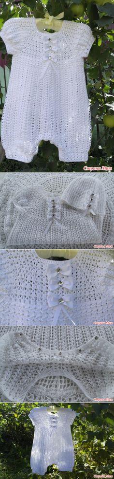 Комплект для малыша 'Белые бантики' - Вязание для детей - Страна Мам
