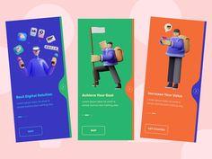 Mobile Web Design, App Ui Design, Best App Design, Onboarding App, Web Design Examples, Design Thinking Process, Apps, App Design Inspiration, Ui Web