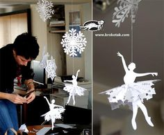 Ballerina  snowflake decorations