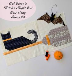 FTQ #1469B Halloween Figs Sampler by Fig Tree 66 x 72 A 12 Month Block of the Month Quilt Pattern