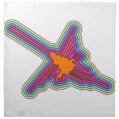Nazca Hummingbird Peru Drawing Cloth Napkin - drawing sketch design graphic draw personalize