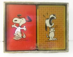 Snoopy Playing Cards Vintage Hallmark Double by ThriftyTheresa