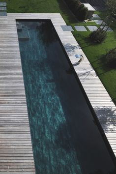 | POOLS | lovely flush deck detailing with lap pool