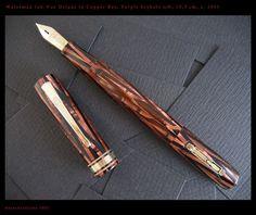 Copper fountain pen.