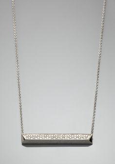 sydney evan pave ingot necklace