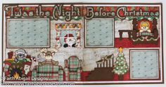 "double page scrapbook layouts | Twas the Night Before Christmas 12""x12"" Double Page Scrapbook Layout"