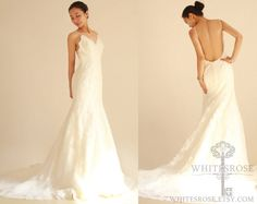 Inspired Mermaid Low Back Lace Wedding Dress  Bridal Gown Wedding Gown -- Reserved for Rebecca