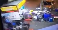 Car Accident involving a street food vendor in Thailand - Road Traffic Fail Videos Food Stall, Fail Video, Car Crash, Dashcam, Street Food, Car Food, Thailand, Chinese, Blog