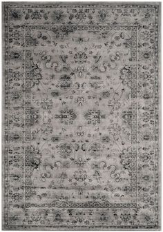 cool Safavieh VTG430A-5 Vintage Power Loomed Rectangle Rug Grey - Ivory 5 ft. 1 in. x 7 ft. 7 in. Check more at http://yorugs.com/product/safavieh-vtg430a-5-vintage-power-loomed-rectangle-rug-grey-ivory-5-ft-1-in-x-7-ft-7-in/
