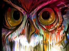 beautiful owl painting love that color Owl Art, Bird Art, Art Mur, Street Art, Beautiful Owl, Painting Inspiration, Painting & Drawing, Amazing Art, Awesome